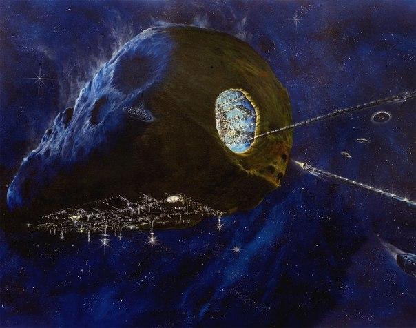 Космический корабль из астероида